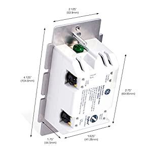GE White & Light Almond Zigbee Smart Switch, Works Directly with Amazon Plus, Echo Show (2nd Gen), SmartThings and Wink, in-Wall Lighting Control, Includes Paddles, Neutral Wire Required, 45856GE