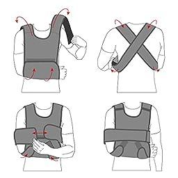 UFEELGOOD Arm & Shoulder Immobilizer Brace - Large Black