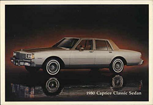 1980 Chevrolet Caprice Classic Sedan Cars Original Vintage Postcard (Classic Postcard Vintage)