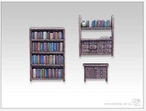 Bits & Accessories - Scenery 28mm Bookshelf & Commode Set
