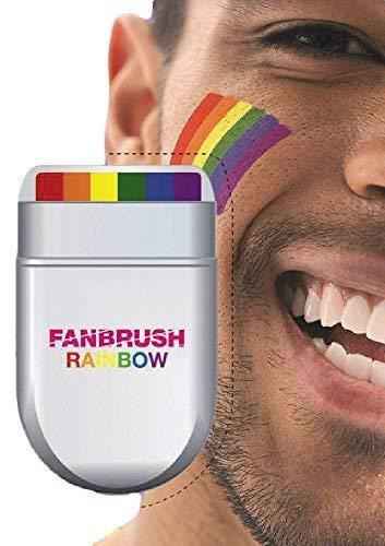 Mens Ladies Adults Bright Rainbow Brush Face Paint Pride Carnival Festival Fancy Dress Costume Make Up Kit -