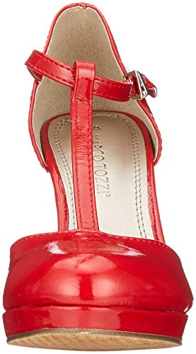 y Vertical Rojo Zapatos con Comb para Mujer Pat Tira 24416 Marco Chili Tacon Tozzi 6cvxpWCWU