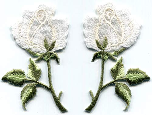 wers Floral Boho Embroidered Appliques Iron-on Patches S-481 ()