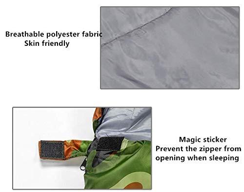 Esencial para Todas Las Estaciones 0~15 /° C Saco de Dormir de Estilo Sobres con Sombrero Beneyond Saco de Dormir de Camuflaje