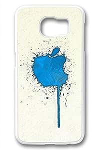 Samsung Galaxy S6 Case,White(PC)Hard Plastic Case For Samsung Galaxy S6[5.1 Inch](Case can be customized)Anti-Knock,Non-Slip,Ultra-thin case,Shock-Absorption Bumper-Apple Iphone Logo 88