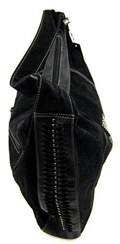 NB24 Versand Tasche (3911), Damentasche, Schultertasche, Umhängetasche, Abendtasche, taupe, ca. 45 x 10 x 35 cm, mit Reißverschluss