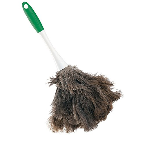 Libman Commercial 239 Handheld Feather Duster, Polypropylene and Sanoprene Handle, 13'' Total Length, Green and White Handle (Pack of 6) by Libman Commercial (Image #1)
