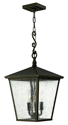 Hinkley 1432RB Traditional Three Light Hanging Lantern from Trellis collection in Bronze/Darkfinish,