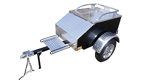 Pull Behind Motorcycle Trailer - Aluminum (Behind Pull Trailer)