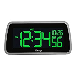 Equity by La Crosse 30451 LCD Alarm Clock with Color Selectable Display