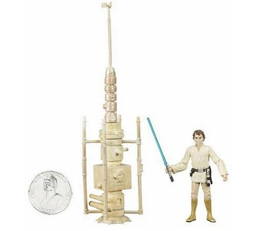 Star Wars 30th Anniversary Luke Skywalker Tatooine Moisture Farmer Action Figure #18 with Coin