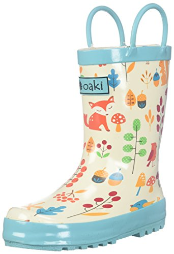 Image of Oakiwear Kids Waterproof Rubber Rain Boots with Easy-On Handles