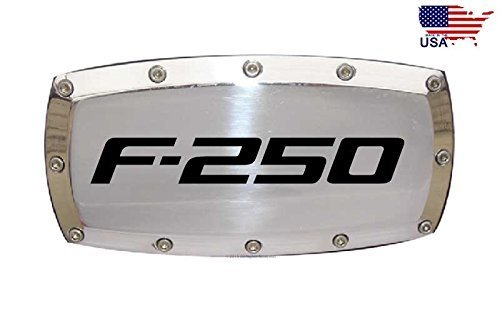 Ford F-250 2 Tow Hitch Cover Plug Engraved Billet Aluminum DanteGTS