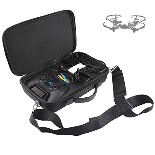 RCGEEK Compatible with Ryze Tello Case Portable Carrying Case Shoulder Bag for Ryze Tello DJI Tello Drone and Gamesir T1D Gamepad or Steelseries Nimbus Remote Controller