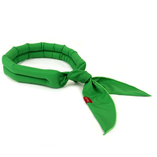 Eutuxia New 2019 Cooling Scarf. Wrap a Soaked Tie Around Neck or Head to Instantly Chill Out. Crystal Polymer Technology Keeps Cool & Reusable. for Summer, Outdoor Activities & Sports. [Green]