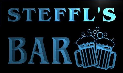 w055454-b STEFFL Name Home Bar Pub Beer Mugs Cheers Neon Light Sign Barlicht Neonlicht Lichtwerbung