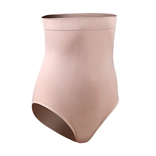 DREAM SLIM Women's High-Waist Seamless Body Shaper Briefs Firm Control Tummy Slimming Shapewear Panties Girdle Underwear (Nude/Nude, Med/Large) (Best Control Body Shapewear)