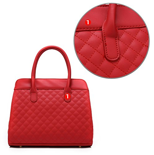 Satchel H1048 Scarleton Scarleton Satchel H1048 Scarleton H1048 Red Quilted Quilted Red Scarleton Satchel Quilted Red 50q1O