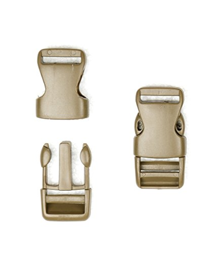 Ninepeak Quick Release Plastic Buckles, 10 Pcs, Coyote Brown