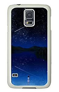 Samsung Galaxy S5 Girl And Stars PC Custom Samsung Galaxy S5 Case Cover White