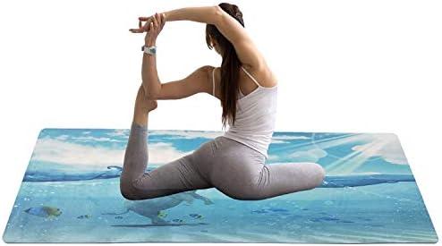 Eco friendly ヨガに適したヨガマット、ノンスリップテクスチャプロフェッショナルヨガマット、エコスポーツとフィットネスマット、ピラティス、床運動、ブルー exercise