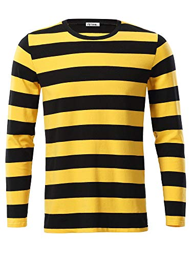 VETIOR Winter Tshirt Casual Long Sleeve T-Shirts Yellow