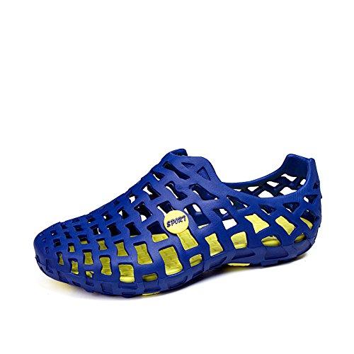 Xing Lin Beach Flip Flop Estate Uomini Pantofole Uomo Scarpe Marea Cool Sandali Scarpe Da Spiaggia Scarpe Foro Autunno Gli Amanti Di Sandali Scarpe 555 Sapphire