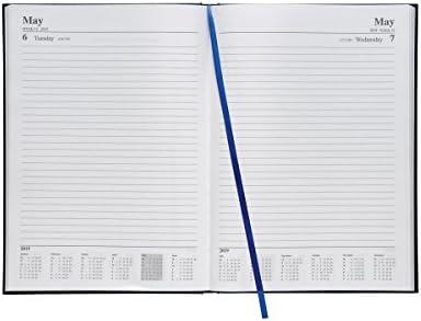 5 Star Office 941045 - Agenda de día a página, A4, 2019, color azul