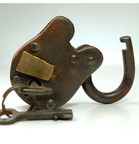 Dexon Power Antique Iron Padlock with 2 Keys