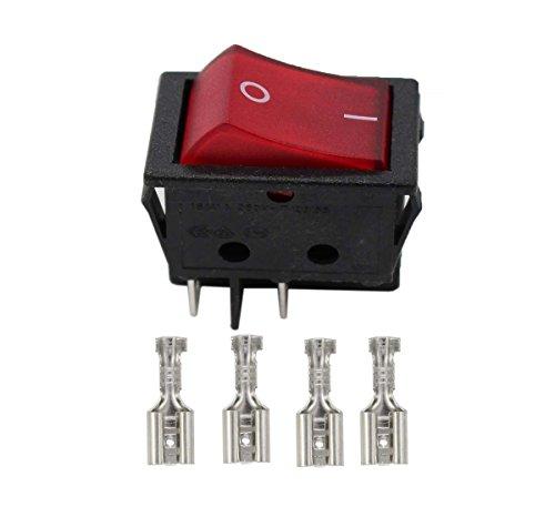Switch 20a (XtremeAmazing Rocker Switch Red Illuminated Double Pole 20A 16A)
