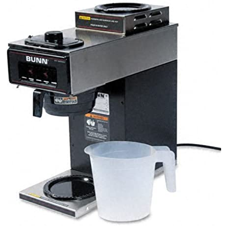 BUNN 12 Cup Two Station Commercial Pour O Matic Coffee Brewer Stainless Steel Black Sold As 2 Packs Of 1 Total Of 2 Each