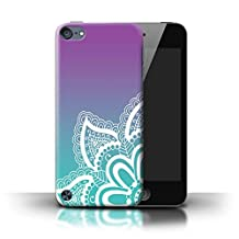 STUFF4 Phone Case / Cover for Apple iPod Touch 5 / White Henna Tattoo Design / Ombre Pattern Collection