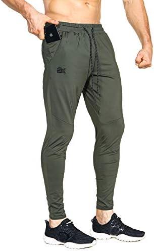 BROKIG Mens Lightweight Gym Jogger Pants,Men's Workout Sweatpants with Zip Pocket