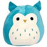 """Squishmallows Winston The Owl 16"""" Plush Teal/White"""