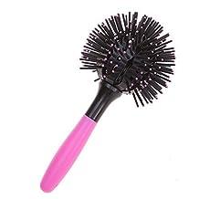 EQLEF® 3D Bomb Curl Hair Brush Ball Styling Spherical Massage Comb Detangling Heat Resistant Hair Comb