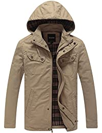 Men's Cotton Lightweight Jacket With Removable Hood