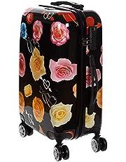 Birendy Reiskoffer polycarbonaat harde schaal hardcase trolley met cijferslot koffer set 4 wielen eenvoudig transport, 80, zwart, roze, Koffer XXL 74x48cm,