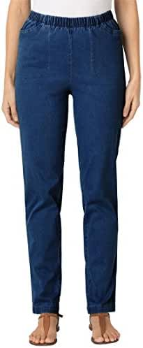 Women's Plus Size Tall Straight Leg Pull On Denim