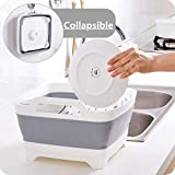FOSJGO Dish Basin Collapsible with Drain Plug Carry