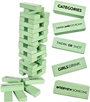 Buzzed Blocks Adult Drinking Game - 54 Blocks with Hilarious Drinking Commands and Games on 40 of Them | Perfe