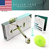 LifeTurquoise Facial Jade Roller | Face Roller Massager, Silicone Cleansing Brush, and Face Suction Cup for Cupping Therapy – Beauty Massager with Natural Stone – Reduces Puffiness and Fine Wrinkles