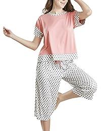 Summer Pajamas for Women, Stylish Print Ladies Pajama Set...