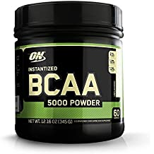 Optimum Nutrition Instantized BCAA Branched Chain Essential Amino Acids Powder, 5000mg, Unflavored, 60 Servings