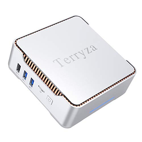 Mini PC with Window 10 Pro 8GB DDR3/120GB ROM Intel Celeron N3350 (up to 2.4GHz) Mini Desktop Computer,Support 4K HD, Dual Band Wi-Fi 2.4G/5G,Gigabit Ethernet,HDMI/VGA Port Multi-Display, BT 4.2