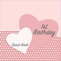 1st birthday guest book keepsake for baby s first party with space
