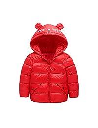 Fairy Baby Baby Boys Girls Winter Light Down Jacket Kids Ear Warm Coat Hoodie Outwear