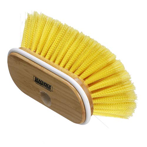Seachoice 90591 Deck Brush with Threaded Hole - 6 Inch - Soft Bristles - Wood Block ()