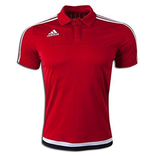 Adidas Tiro 15 Climalite Mens Polo L Power Red-White-Black
