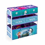 Disney Frozen Kids 4-Piece Set - Folding Activity Table Set with Toy Organizer