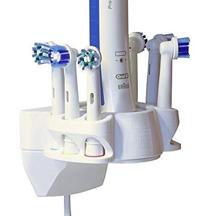 Soporte de pared para Cepillos, Portacepillos de dientes compatible con Oral-B para 6